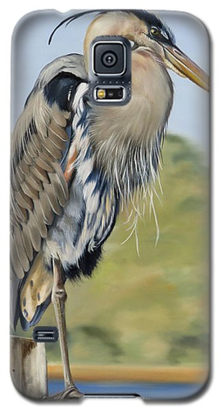Great Blue Heron Standing Galaxy S5 Case