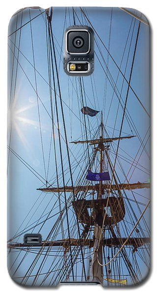 Galaxy S5 Case featuring the photograph Great Day To Sail A Tall Ship by Dale Kincaid