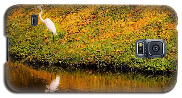Great Egret At The Lake Galaxy S5 Case