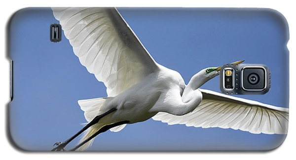 Galaxy S5 Case featuring the photograph Great Egret Soaring by Gary Wightman