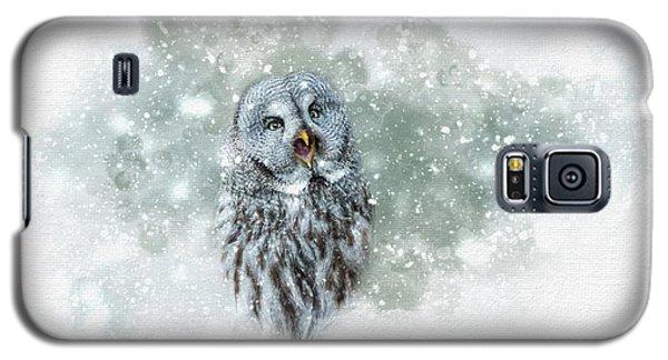 Great Grey Owl In Snowstorm Galaxy S5 Case
