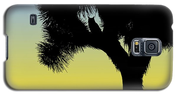 Great Horned Owl In A Joshua Tree Silhouette At Sunrise Galaxy S5 Case