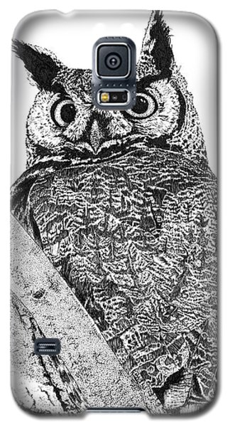 Great Horned Owl In A Tamarisk Galaxy S5 Case
