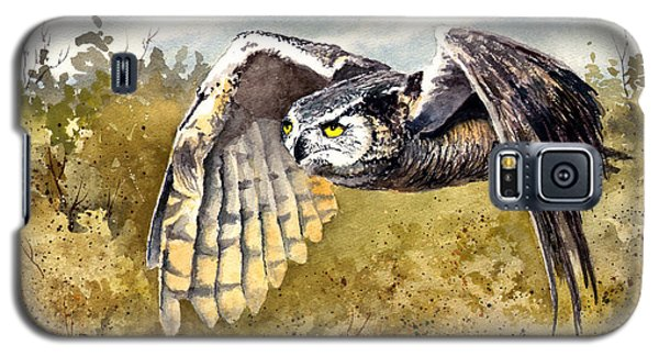 Great Horned Owl In Flight Galaxy S5 Case