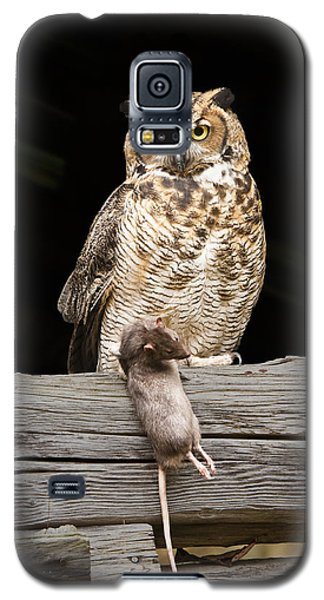 Galaxy S5 Case featuring the photograph Great Horned Owl With Dinner by Tyson and Kathy Smith