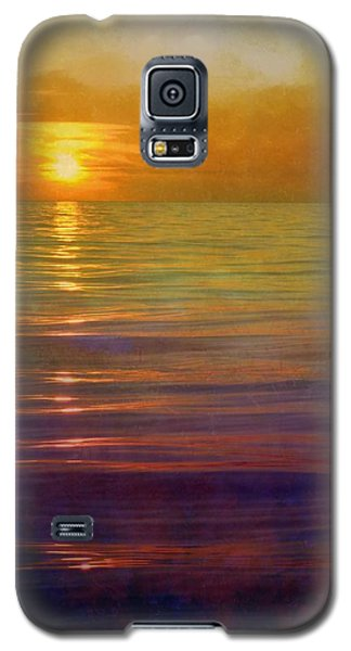 Galaxy S5 Case featuring the digital art Great Lakes Setting Sun by Michelle Calkins