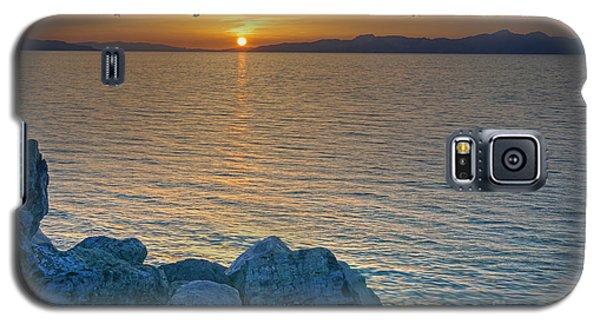 Great Salt Lake At Sunset Galaxy S5 Case by Martin Konopacki