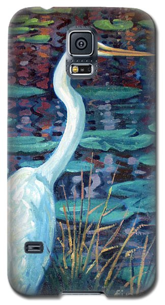 Great White Egret Galaxy S5 Case by Donald Maier