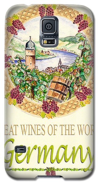Great Wines Of The World - Germany Galaxy S5 Case by John Keaton