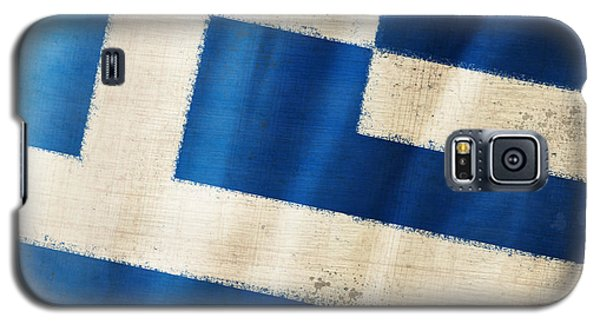 Greece Flag Galaxy S5 Case by Setsiri Silapasuwanchai