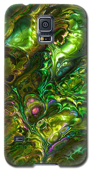 Green Abalone Abstract Galaxy S5 Case