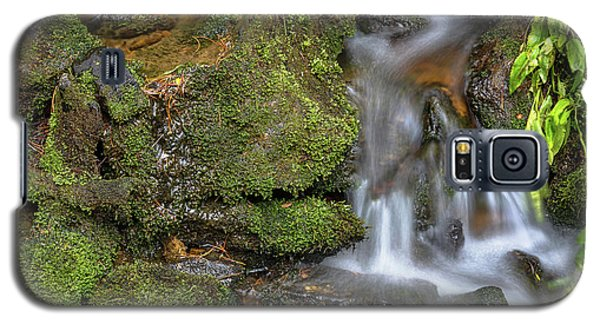 Galaxy S5 Case featuring the photograph Green And Mossy Water Flow by James BO Insogna