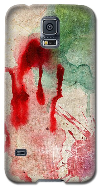 Green And Red Color Splash Galaxy S5 Case