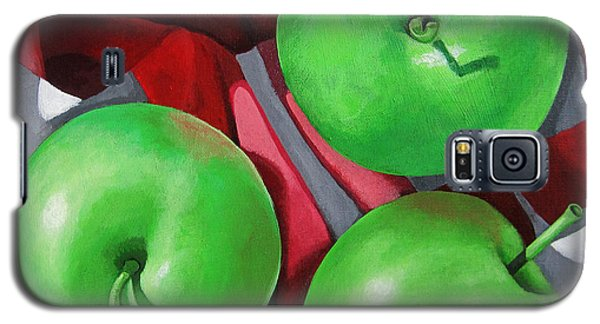 Green Apples Still Life Painting Galaxy S5 Case