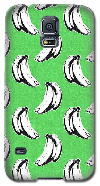 Banana Galaxy S5 Case - Green Bananas- Art By Linda Woods by Linda Woods