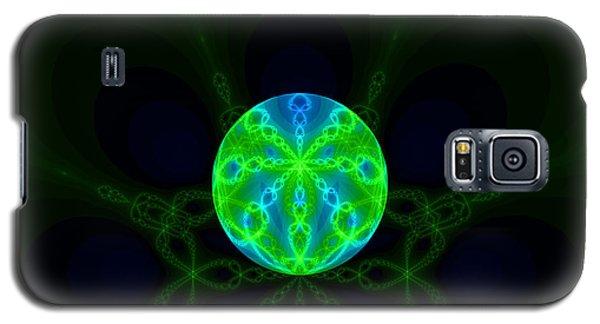 Green Blue World Fractal  Galaxy S5 Case