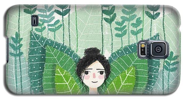 Green Galaxy S5 Case by Carolina Parada