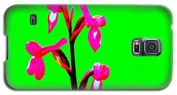 Green Champagne Orchid Galaxy S5 Case