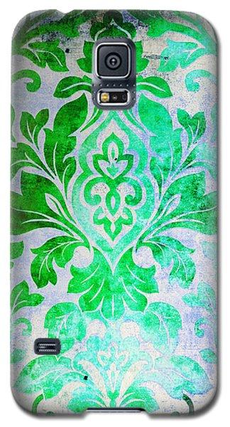 Green Damask Pattern Galaxy S5 Case