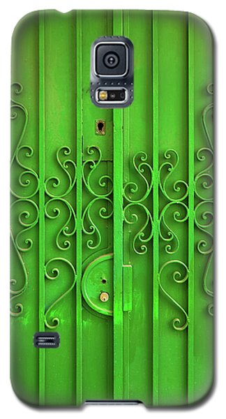 Galaxy S5 Case featuring the photograph Green Door by Carlos Caetano