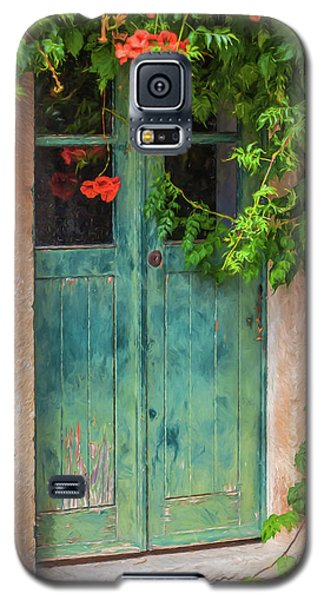 Green Door With Vine Galaxy S5 Case