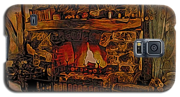 Galaxy S5 Case featuring the digital art Green Dragon Hearth by Kathy Kelly