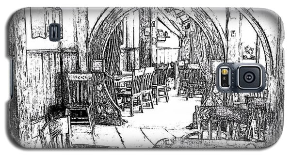 Galaxy S5 Case featuring the drawing Green Dragon Inn Nook by Kathy Kelly