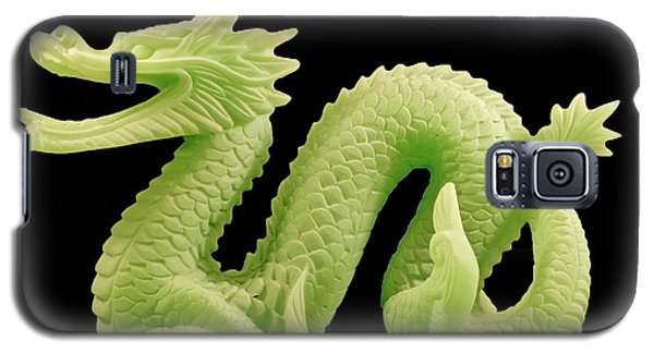 Green Dragon On Black Galaxy S5 Case by Bill Barber