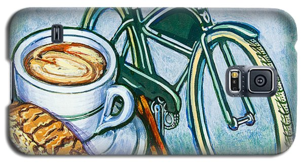 Green Electra Delivery Bicycle Coffee And Biscotti Galaxy S5 Case