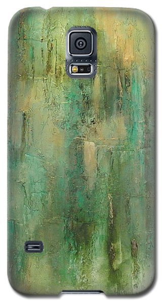 Galaxy S5 Case featuring the painting Green Envy by Tamara Bettencourt