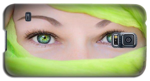 Green-eyed Girl Galaxy S5 Case by TK Goforth