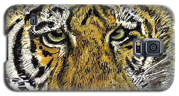 Green Eyed Tiger Galaxy S5 Case by Laurie Rohner