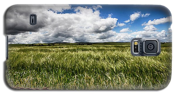 Galaxy S5 Case featuring the photograph Green Fields by Douglas Barnard