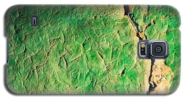 Green Flaking Brickwork Galaxy S5 Case
