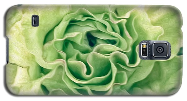 Galaxy S5 Case featuring the photograph Green Flower by Linda Constant