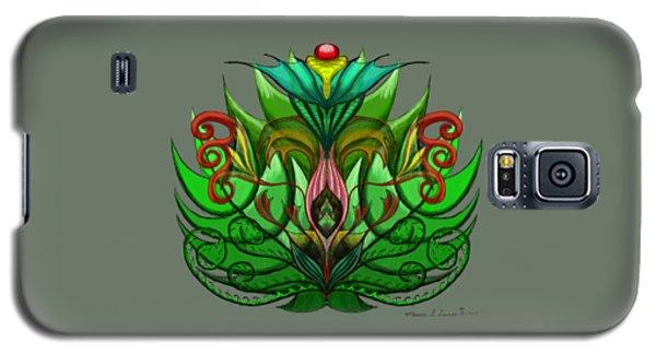 Green Flower Galaxy S5 Case