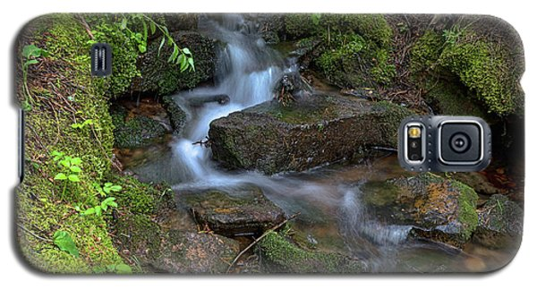 Galaxy S5 Case featuring the photograph Green Flowing Stream by James BO Insogna