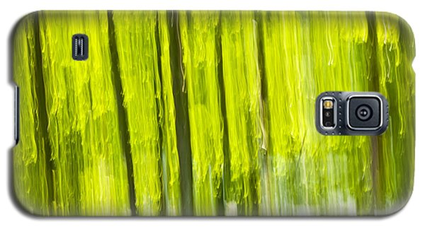 Green Forest Abstract Galaxy S5 Case