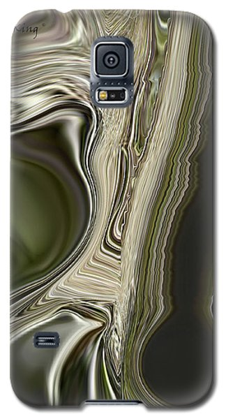 Galaxy S5 Case featuring the digital art Green Friends by Roena King