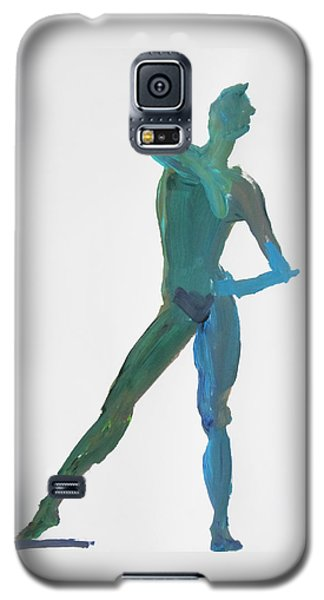 Galaxy S5 Case featuring the painting Green Gesture 2 Pointing by Shungaboy X