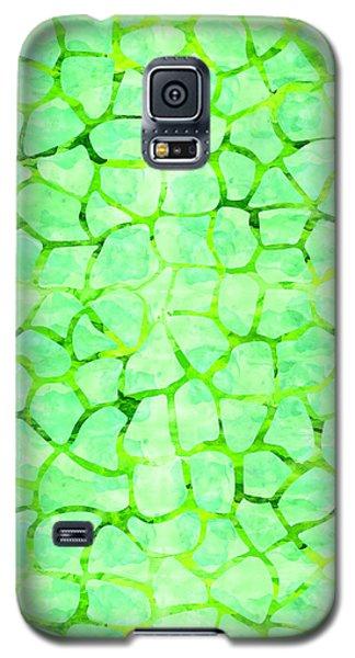 Green Giraffe Print Galaxy S5 Case
