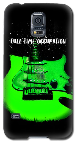 Green Guitar Full Time Occupation Galaxy S5 Case