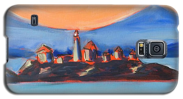 Galaxy S5 Case featuring the painting Green Island Lighthouse by Yulia Kazansky