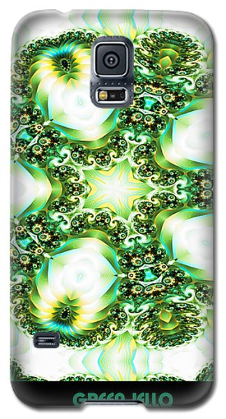 Galaxy S5 Case featuring the digital art Green Jello by Charmaine Zoe