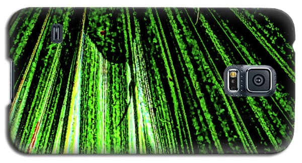 Green Leaf Forest Photo Galaxy S5 Case