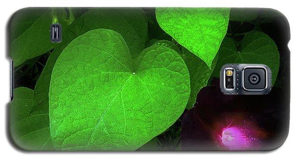 Green Leaf Violet Glow Galaxy S5 Case
