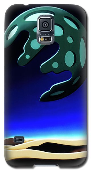 Green Moon Rising Galaxy S5 Case