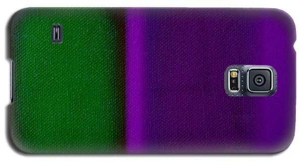 Green On Magenta Galaxy S5 Case by Charles Stuart
