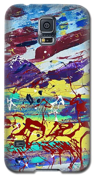 Green Pastures And Purple Mountains Galaxy S5 Case by J R Seymour