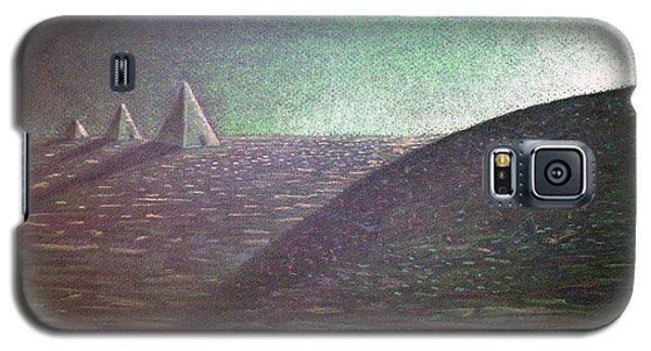 Galaxy S5 Case featuring the drawing Green Pyramid B by Mayhem Mediums